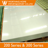 ASTM AISI 304 201 2b finish cold treatment stainless steel metal plate/sheet