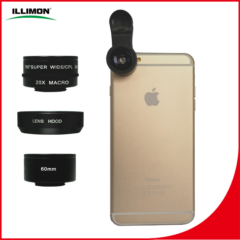 illimon 2016 new 5 in 1 calip lens camera attachment for cell phone M1560