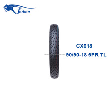 CHINA FEIBEN CX618 MOTORCYCLE TUBELESS TYRE LIST OF MANUFACTURING COMPANY 90/90-18 TIRE RECYCLING
