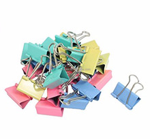 Assorted Color 32mm Blinder Clip 12pcs/paper box