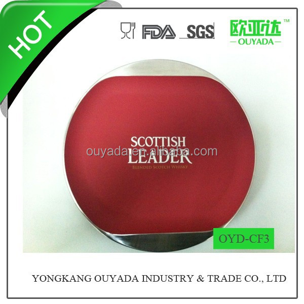 color rubber painted stainless steel round tray OYD-CF3