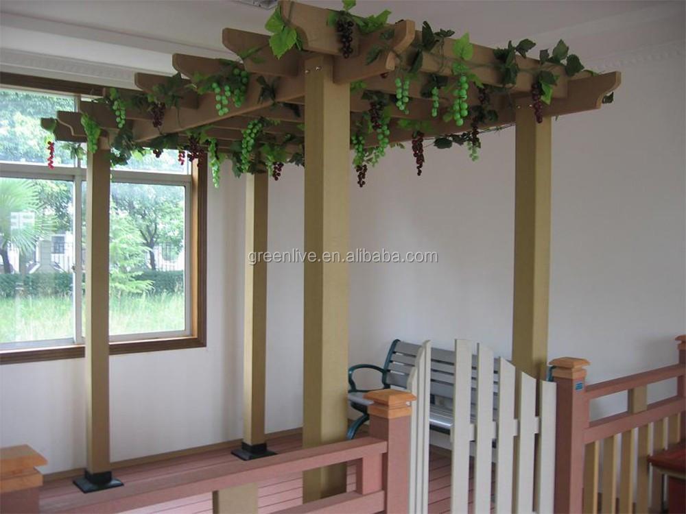 pas cher bois plastique composite balcon pergola arches. Black Bedroom Furniture Sets. Home Design Ideas
