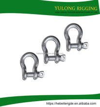 wholesale alibaba zinc carbon steel bow type chain shackle