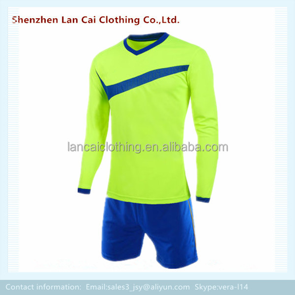 long sleeve football sports jersey and pants sublimated print soccer sweat suit