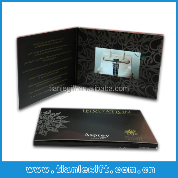 New Design LCD Screen Video Birthday Greeting Cards