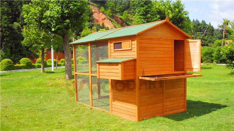 Large Wood egg laying outdoor chicken coop with big run