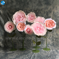 Top quality patterns backdrop crumpled paper artificial flower wall