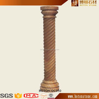 customized design marble stone column and decorative wedding pillars