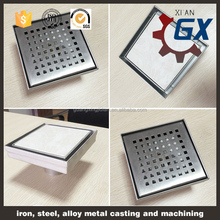 Stainless steel types of shower floor trap drain grates