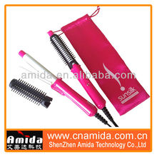 Mini Portable Ceramic Travel Hair Styler, Electric Hair Brush Rollers