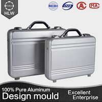 HLW cheap china suppliers lock case aluminum suitcase