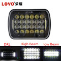 Factory wholesale rectangle 72W led headlight square projector 5x7 7x6 5D 7inch offroad 5*7 led headlamp for Jeep