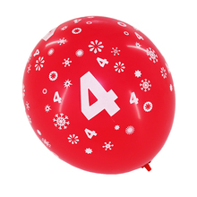 wholesale cheap round birthday number printed balloons