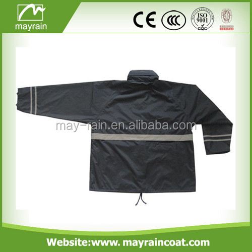 hood rainsuit with reflective tape, waterproof suit