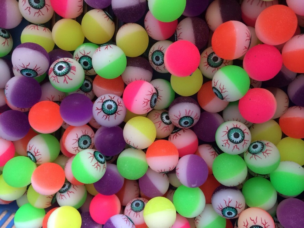 25mm,32mm,45mm cute eyes shape Super Bouncing Balls Super Bounce Ball for Vending Machine