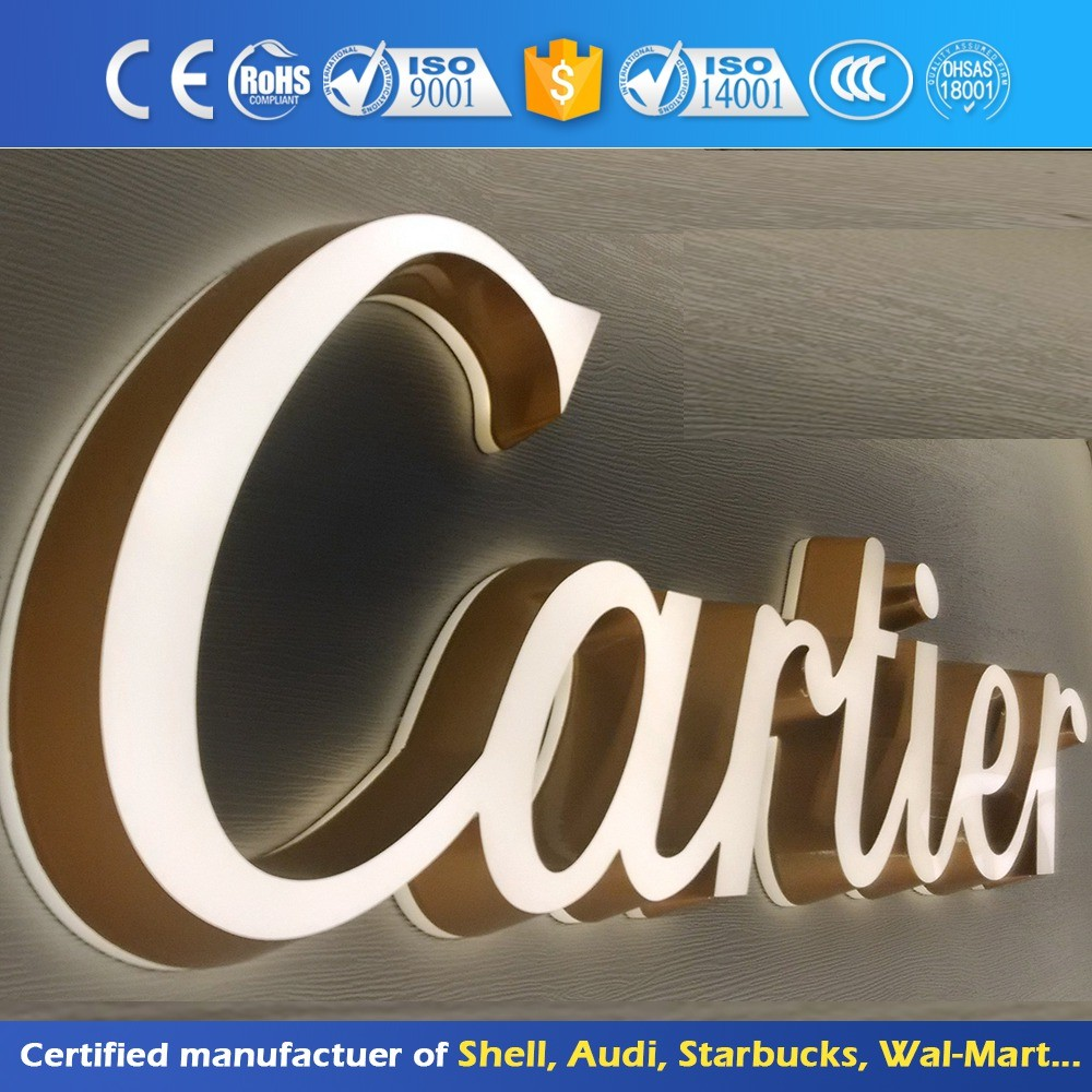 Front And Back Lit Building Shop Sign Lighting Advertising Letter