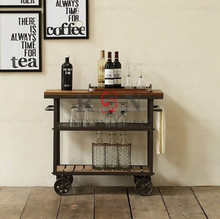 Iron Wrought Fame Restaurant Service Trolley/ Drinks Trolley/Wine Trolley