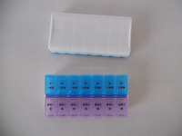 7 Day Removable Pill Box 14 Pill Case Pill Container 330556