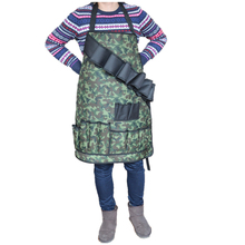 Heavy Duty Waterptoof Camo Oxford BBQ Garden Apron with Tool Pockets