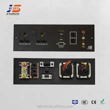 multimedia wallplates for hotel room