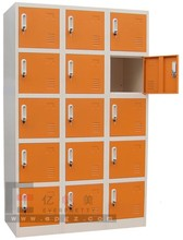 metal orange cabinet dividers/ 15 drawers document drawers for school use/ office furniture for filing