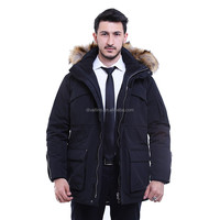 2016 Manufacturing Factory of European Style Men's Fur Trim Down-Filled Parka and Winter Coat