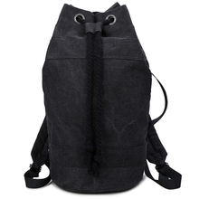 Manufacturer customized black canvas drawstring rucksack basketball backpack