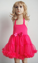2015 new fashion pink princess dress for toddlers handmade kids costumes