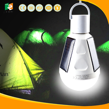 china led bulb two spot emergency light lantern camping solar light for wholesales