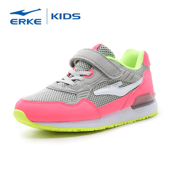 ERKE 2016 wholesale brand kids sports shoes with hook and loop closure (Little Kid/Big Kid)