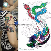 LC816/New 2015 cool beauty phoenix tattoos designs temporary body tattoos stickers for arm