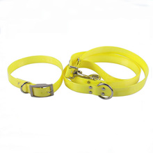 Fluorescent Strong Tensile Yellow TPU Pet Dog Collar and Leash