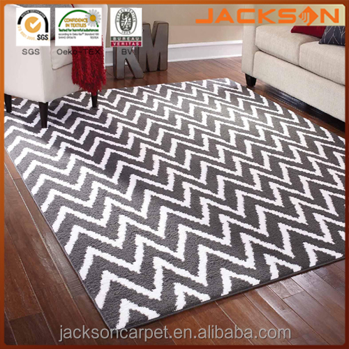Mainstays Rug in a Bag Distressed Zig Zag Cinder Area Rug, Gray/White