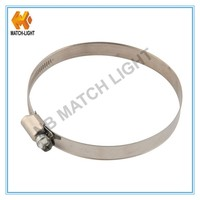 China Factory Direct 9mm/12mm Band German Style 304 Stainless Hose Clamp