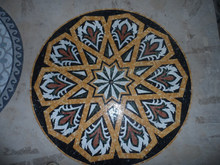 Marble tile floor medallions for wall decoration, mosaic medallion