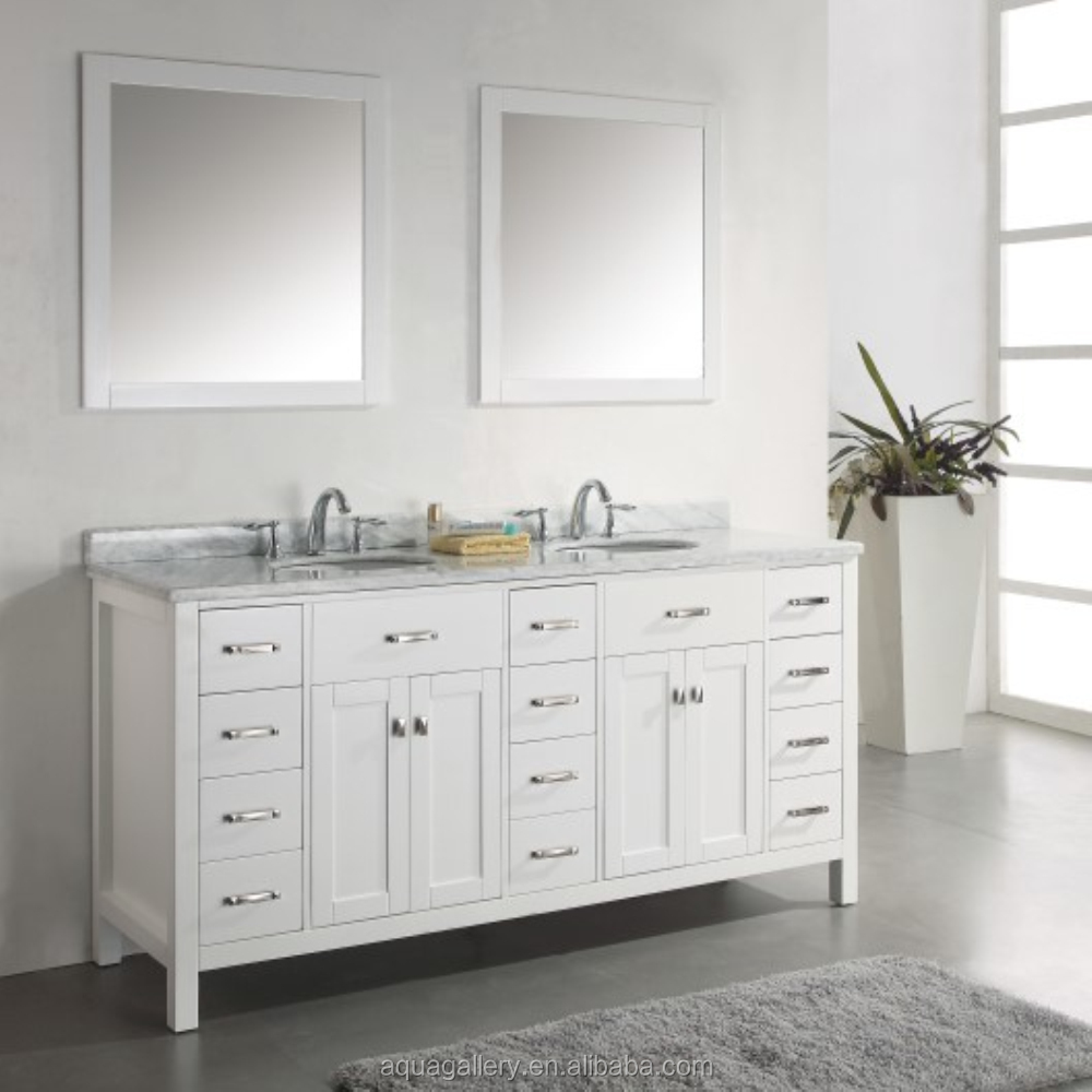 luxury bathroom vanity with marble counter top double bowl