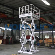 Hot sale hydraulic scissor type used trolley car washing lift