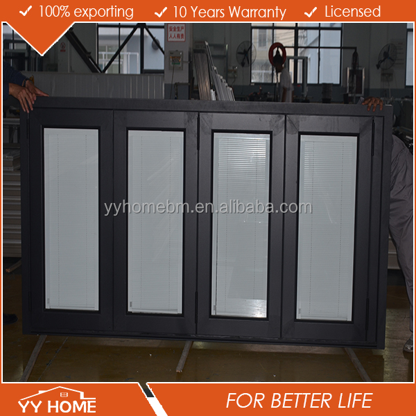 YY home high quality aluminium thermal break doors with blinds inside