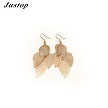 Leaf shape 2 gram gold beautiful designed earrings body chain jewelry