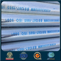 schedul 20 galvan steel pipe price