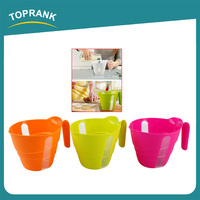 Toprank Newest Colorful Kitchen Cooking Mixing Bowl PP Plastic Digital Measuring Cup With Handle