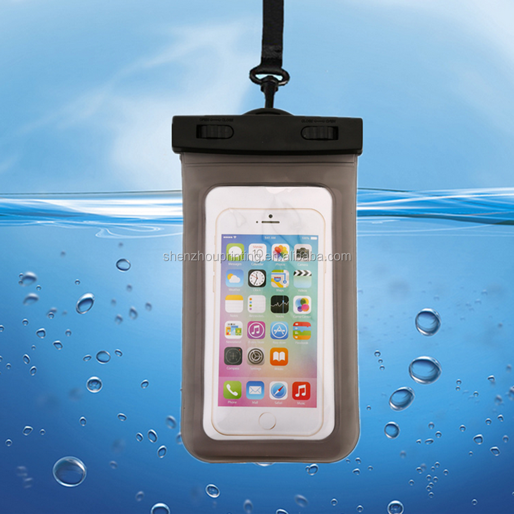 Hot sale cheap custom logo PVC phone waterproof case, cell phone waterproof dry bag, floating waterproof phone bag