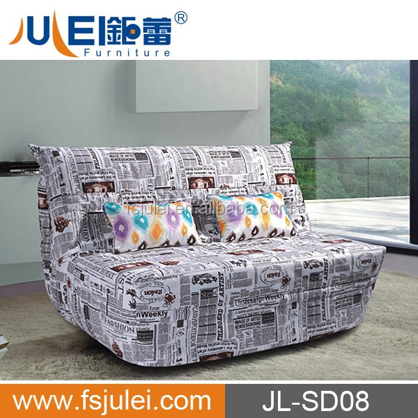 modern design click clack foam folding sofa cum bed JL-SD08
