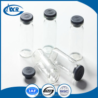 Butyl rubber stoppers for injection powder