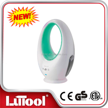 LUTOOL Electric Bladeless Fan, Oscillating Fan, With LED Light & Remote Control