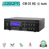 DSPPA MP8745 450W 6 Zones All-in-one Amplifier with USB/Tuner/Timer/Paging pa mixer for mosque