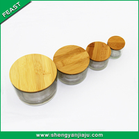 New style well sale candle jar bamboo lid