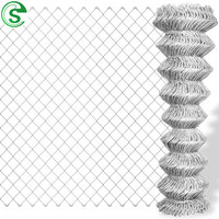 Hot galvanized wire fencing 2 inch mesh 8ft chainlink fence for farm