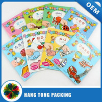 Children sticker book printing with softcover