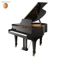Solid Wood Keyboard Material and Solid Wood Soundboard Material black baby grand piano for sale